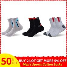 3Pairs/lot Basic Cotton Men Socks EU39-45(US7-11) Hollow Breathable Winter