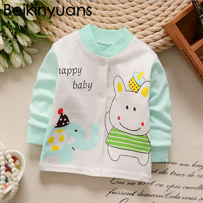 2017 Baby Jacket Cardigan New Arrival Clothing Baby Girls Boys Coat Cartoon Printed jacket Autumn Kids Outerwear Clothes