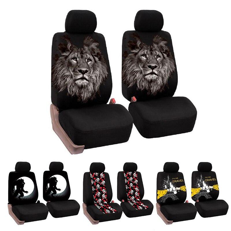 Universel siège de voiture couvre voiture décor intérieur mode Animal motif Auto siège couverture voiture siège protecteur
