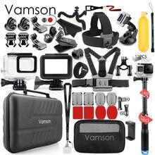 Vamson Voor Gopro Action Camera Accessoire voor go pro hero 7 6 5 Zwarte Accessoires Kit Waterdichte Bescherming Behuizing Case VS73