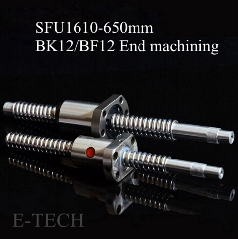 Ball screw sfu1610 Set: 1 PC sfu1610 ballscrew l650mm Standard BK12 BF12 Machining 1 Unit sfu1610 Ball Nut