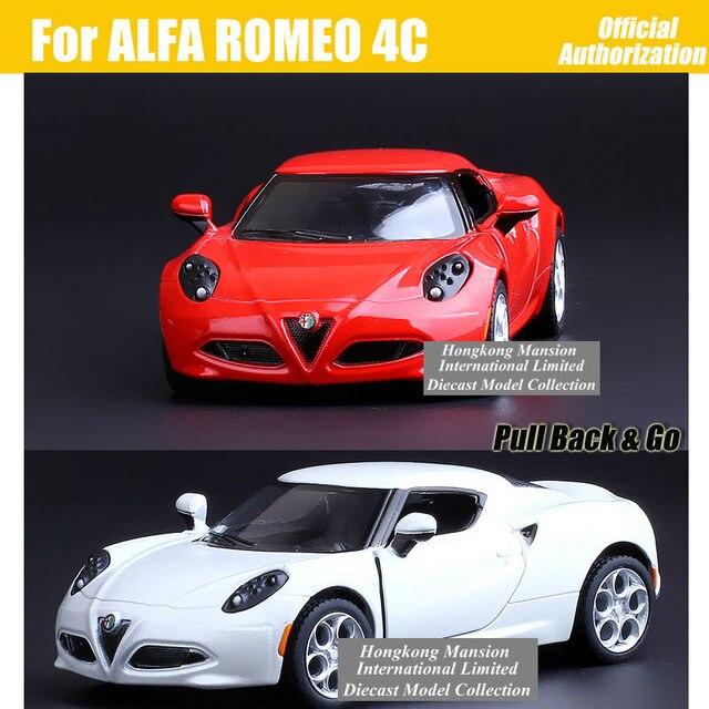 Scale Alloy Metal Diecast Sports Car Model For ALFA ROMEO C - Alfa romeo model