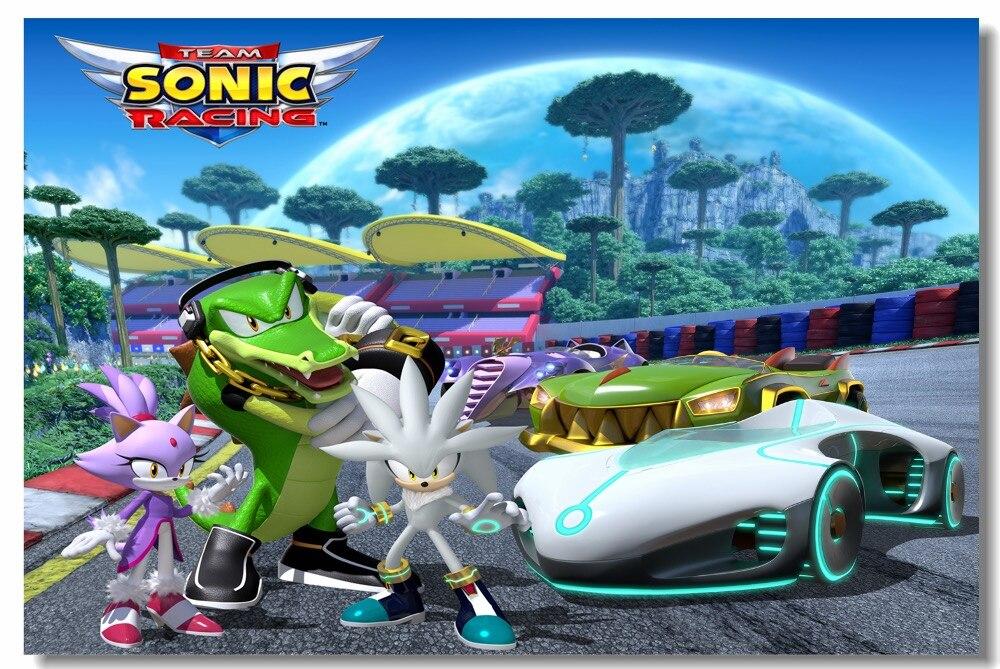 Custom Canvas Wall Paintings Team Sonic Racing Poster ...
