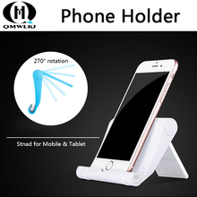 Mobile Phone Holder Stand With Non-slip Silicone Pad Desktop Tablet For Xiaomi iPhone 4 4S Samsung Huawei P20 Pro