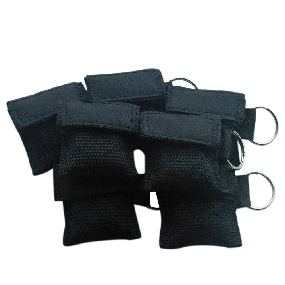 ФОТО 100Pcs First Aid Rescue CPR Mask CPR Face Shield With Keychain Ring For Survival Emergency Ruscue Bag Kit