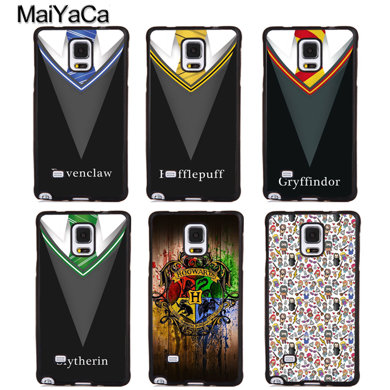 MaiYaCa Cute Harry Potter Gryffindor Soft Rubber Phone Cases For Samsung Galaxy S5 S6 S7 edge plus S8 S9 plus Note 3 4 5 8 Cover