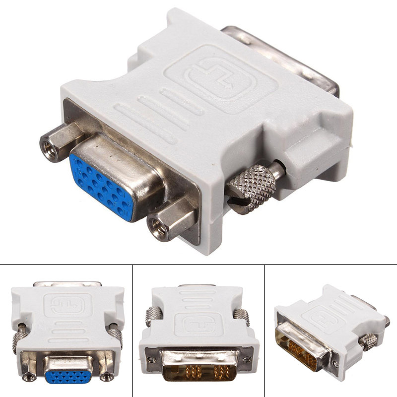 Mayitr 1pc Professional DVI-D To VGA Adapter 18+1 Pin DVI Male To 15 Pin VGA Female Plug Adapter Converter For PC Laptop