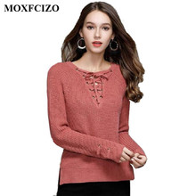 2017 Sweater Women Pullover Slim Long Sleeve Knitted jumper Pull Femme Sexy Tops Ladies Sweaters Knitwear Clothing Women Sweater