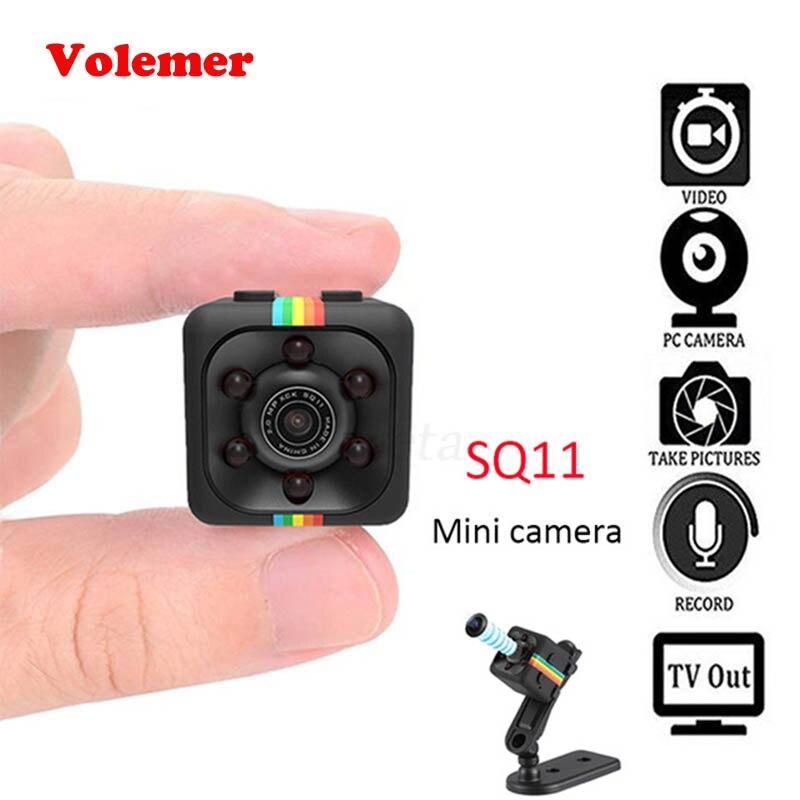 Volemer SQ11 Mini videocámara de la cámara HD 1080 P secreto Cámara de la visión nocturna de la detección de movimiento cámara DV deportes voz grabadora de vídeo