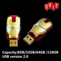 J-boxen LED Eisen Mann 16GB USB Flash Memory Stick USB-Stick 8GB 32GB 64GB thumb Drive Speicher für Computer Laptop Mac Tablet