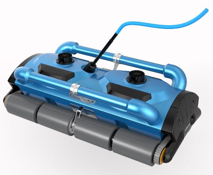 50m Cable Robotic big pool cleaner 200D swimming robot cleaning equipment with caddy cart