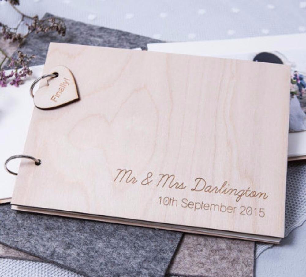 Personalised Ampersand Guest Book - Wooden Guest Book - Rustic Wedding - Wedding Guest Book - Gift for Couples -Engagement Gift Personalised Ampersand Guest Book - Wooden Guest Book - Rustic Wedding - Wedding Guest Book - Gift for Couples -Engagement Gift