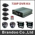 4CH 720P CAR DVR kit, including DVR+2 inside camera+2 outside camera+4 video cables