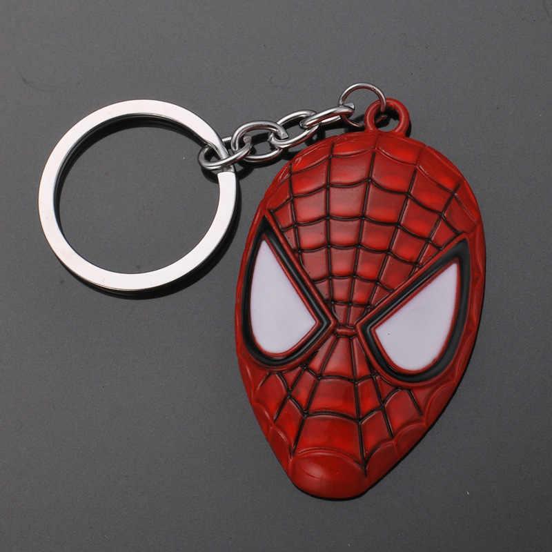 Mini Marvel Avengers Alliance figure Keychain Set Super Hero Captain America Shield Keyring Iron man Key Holder Kolye Civil War