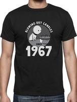 Groothandel Prijs Shirt Deals Crew Neck Fashion Mens Blazen Out Kaarsen Sinds 1967 50Th Verjaardag Idee Aanwezig T-shirts