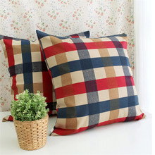 Hight Quality 3 Size Grids Pattern Pillowcase For Home Hotel Sofa Chair Waist Cushion Cover