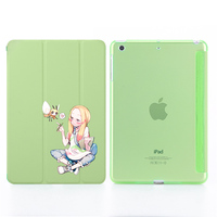 """2 3 3 Lovely Print Leather Case For  iPad 2017/2018 9.7"""" PU Leather Stand Cover Hard PC Back Case For iPad 2 3 4 auto sleep & wake up (4)"""