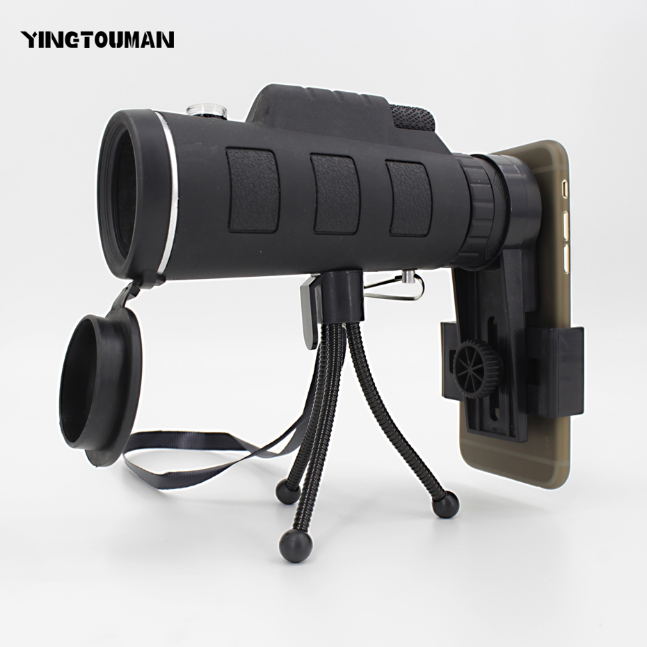 YINGTOUMAN Mobile Phone Lens Universal Zoom Telescope Camera Telephoto Lenses 40*60 Wide Angle Macro Lentes Spotting Scope Tele slr phone bluetooth control photographic equipment camera cinema moun with wide angle lens and macro lens suits for mobile phone