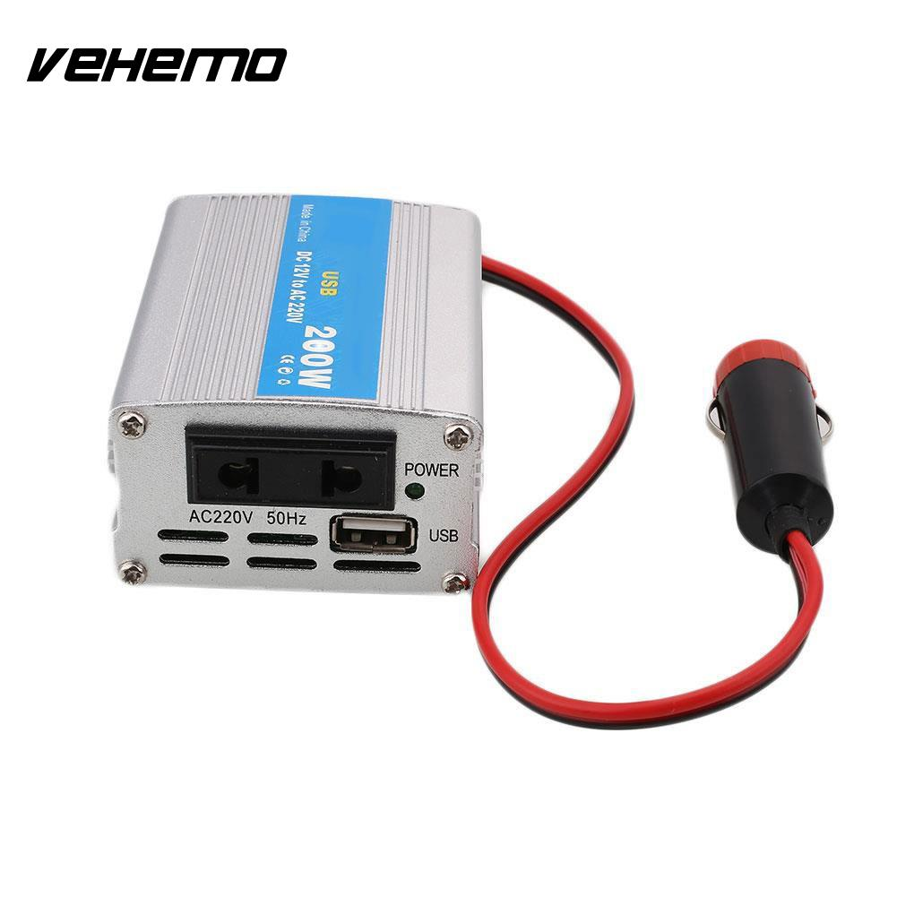 Car Power Inverter DC 12V to 220V AC Converter with AC Outlet and USB Car Charger Size : 200W