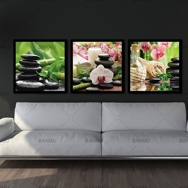 Canvas Painting Wall Art Pictures Modern Nature Seeds 3 Piece Flower Paint On