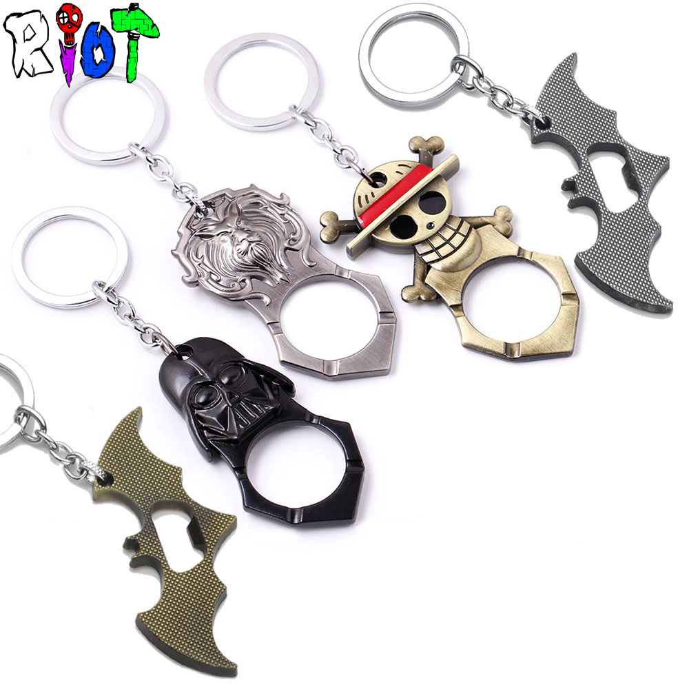 game one piece batman star wars bottle opener keychain alloy pendant charms key chains keyring. Black Bedroom Furniture Sets. Home Design Ideas