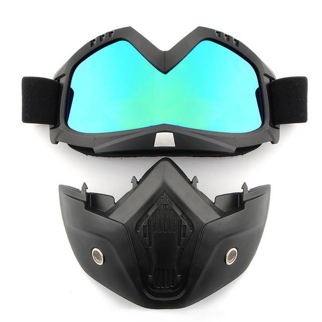 Dust-proof Men Women Cycling Bike Full Face Mask Windproof Winter MTB Goggles Bicycle Snowboard Ski Masks with Anti-UV Glasses 4