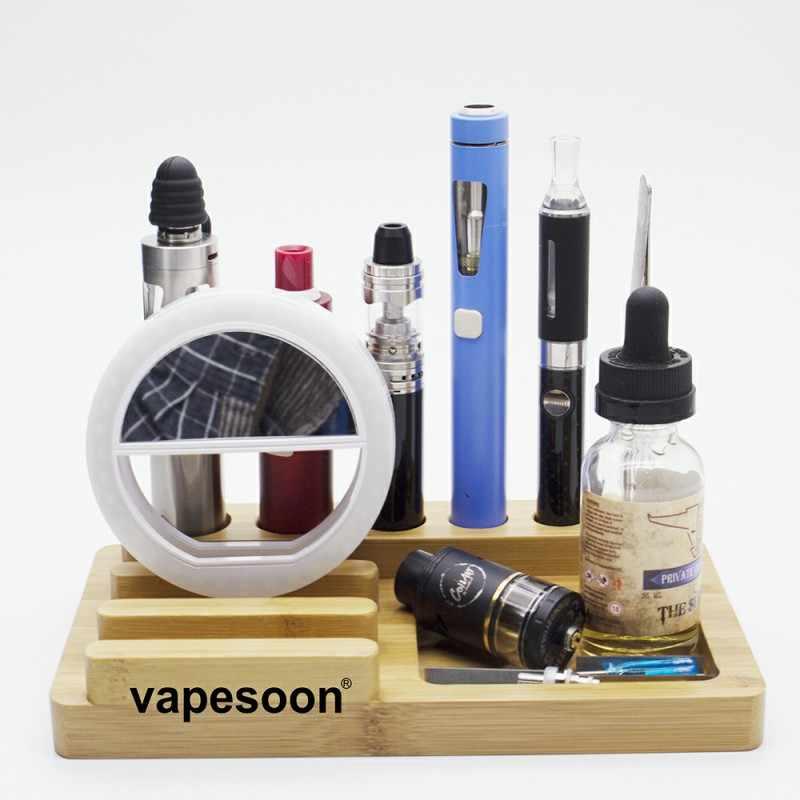 Держатель для электронных сигарет Vapesoon Bamboo, стенд для электронной сигареты, держатель для ego battery mod, капельный наконечник, катушка, мобильный телефон