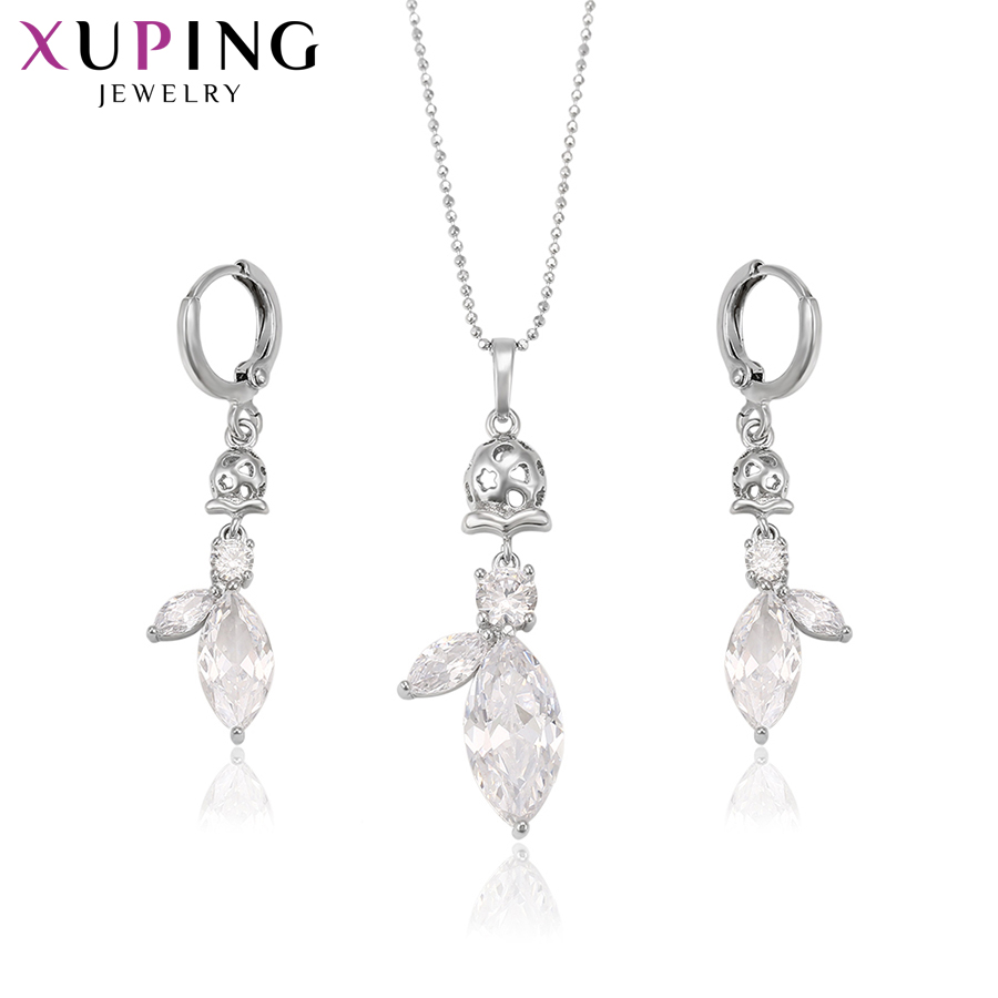 Back To Search Resultsjewelry & Accessories Jewelry Sets Straightforward Xuping Fashion Luxury Charm Popular Style Set For Women Girls Imitation Jewelry Sets For Party S71,2-62195 Clear-Cut Texture