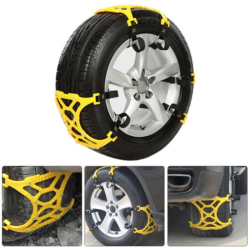ToHuu 3 PCS/Pack Universal Thickened TPU Car Tire Anti skid Chain Emergency Tire Anti skid Belt For Winter Snow Road Snow Chains