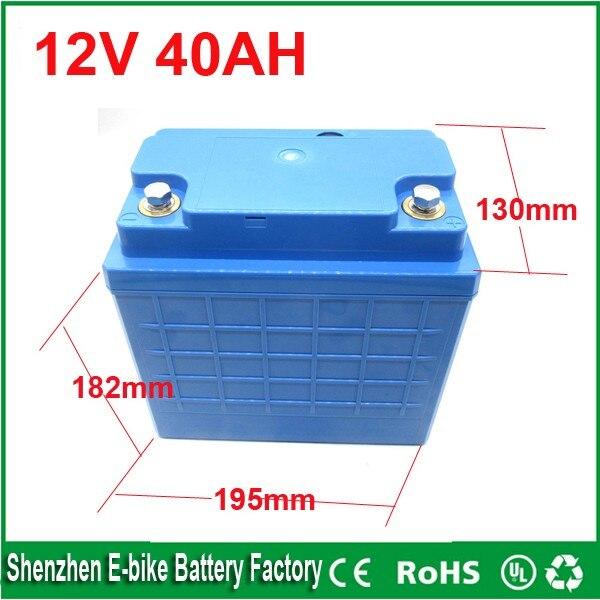 Free Shipping 12 Volt Lithium Ion Battery 40ah 12v 40ah
