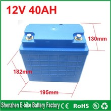 Free shipping 12 volt lithium ion battery 40ah / 12v 40ah deep cycle lithium ion battery 12V lifepo4 Electric Bicycle Battery