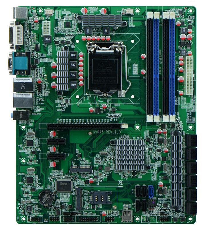 Carte mère LGA 1155 NVR B75 Core i3/i5/i7 18 sata, carte mère lga1155 socket B75