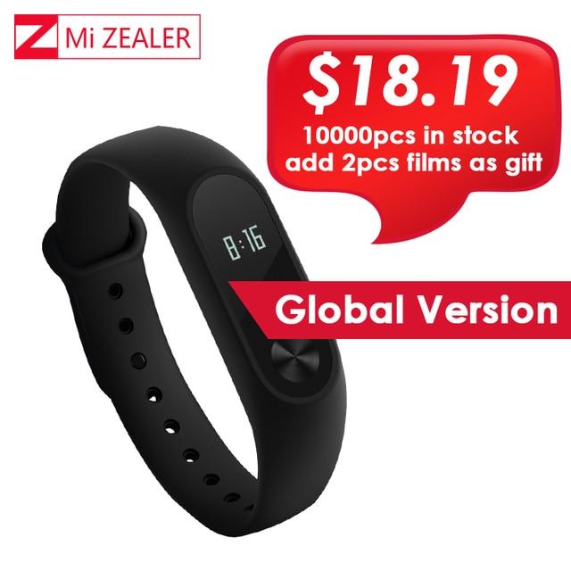 Mondial Version Xiao mi mi Bande 2 mi bande mi Band2 Bracelet Bracelet Intelligent Moniteur de Fréquence Cardiaque Fitness Tracker Touchpad OLED Bracelet
