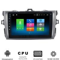 8 Android 8,0 Автомобильный мультимедийный плеер для Toyota Corolla 2007 2008 2009 2010 2011 навигационный GPS радиоприемник с 8 Core 4 Гб + 32 ГБ ips экран