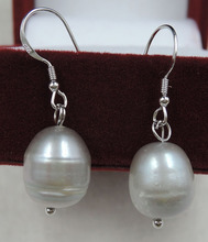 100% nature fresh-water pearl earring with 925 siliver hook