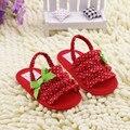 Na Primavera e no Outono sapatos de bebê bordado criança prewalk pano macio de algodão princesa meninas flor sólida primeiro caminha para 0-1Y