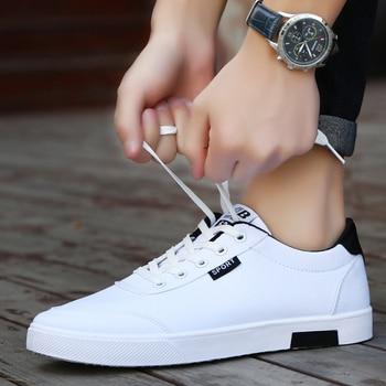 Мужская обувь, новинка 2018 года, модная повседневная Белая обувь для студентов, Мужская дышащая парусиновая обувь, кроссовки, zapatos hombre