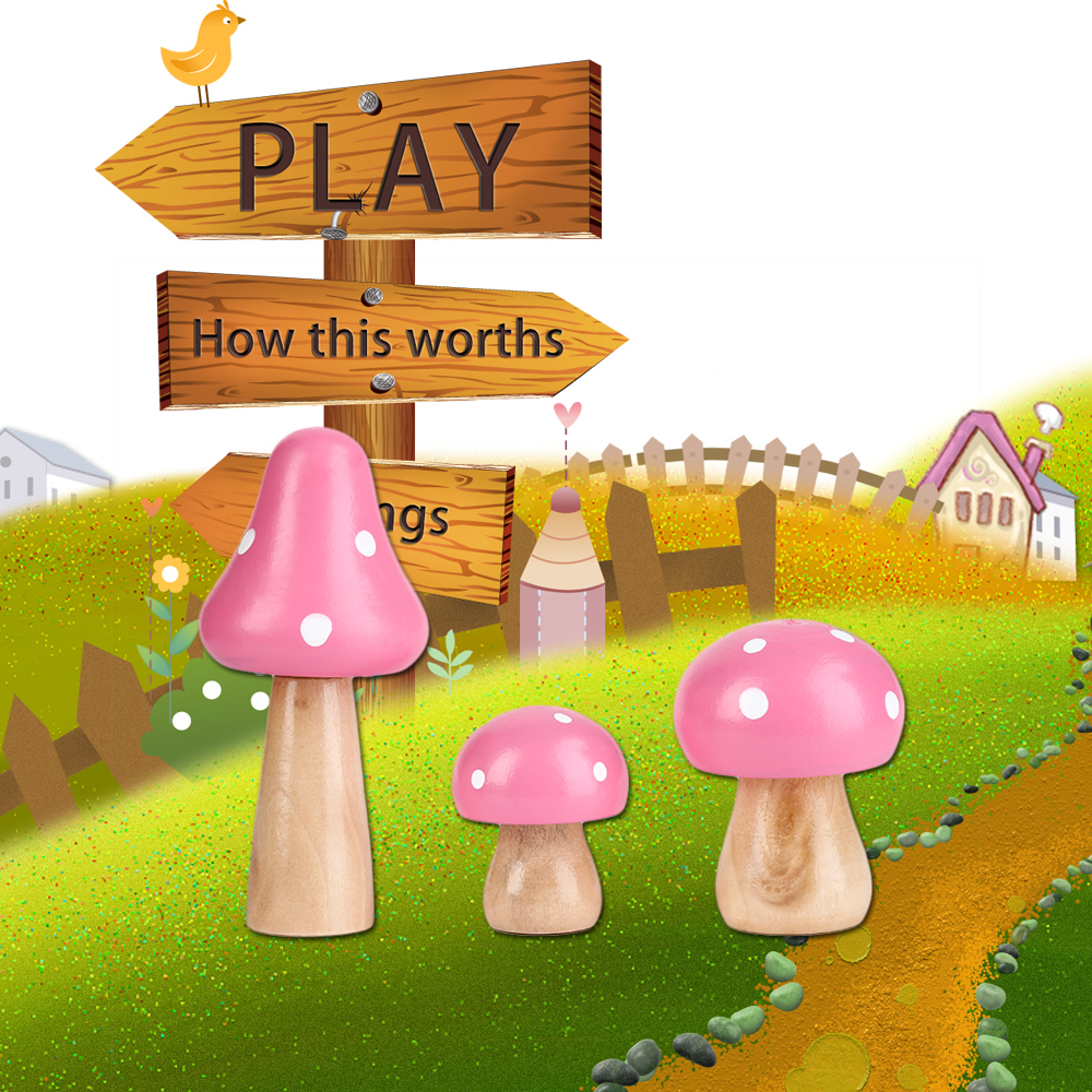 Charming 2018 New 3 Pcs/Set Wood Mushrooms Miniature Fairy Garden Home Decoration  Craft Micro Landscape Decor DIY Gift Moving Forest In Figurines U0026  Miniatures From ...