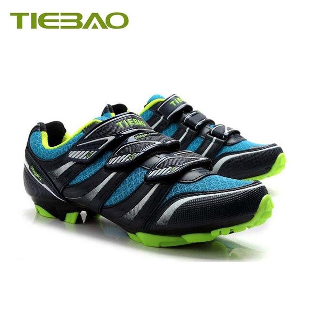 Tiebao profissional mtb ciclismo sapatos de corrida atlético ao ar livre sapatos de bicicleta auto-bloqueio spd cleated pedais tênis 4