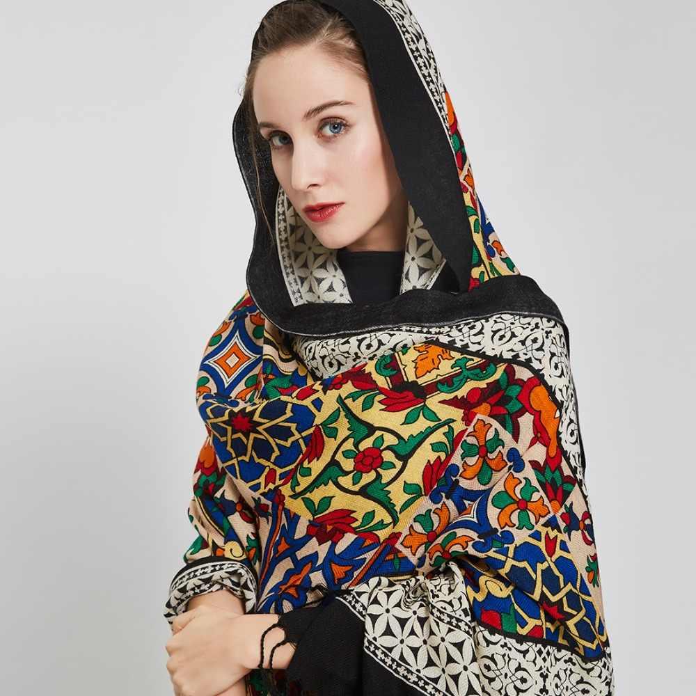 Dana Xu Nieuwe 100% Wol Bufanda Mujer Hoofd Sjaals Vrouwen Elegante Pashmina Warme Sjaal Bandana Sjaal Hijab Foulard Femme Poncho