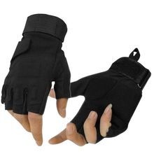 Hot!! Outdoor Gloves Hunting Winter Windproof Sports Fingerless Military Tactical Riding Rn