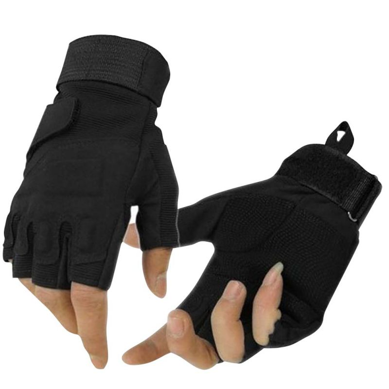 Hot!! Outdoor Gloves Hunting Winter Windproof Sports Fingerless Military Tactical Hunting Riding Sports Gloves Rn
