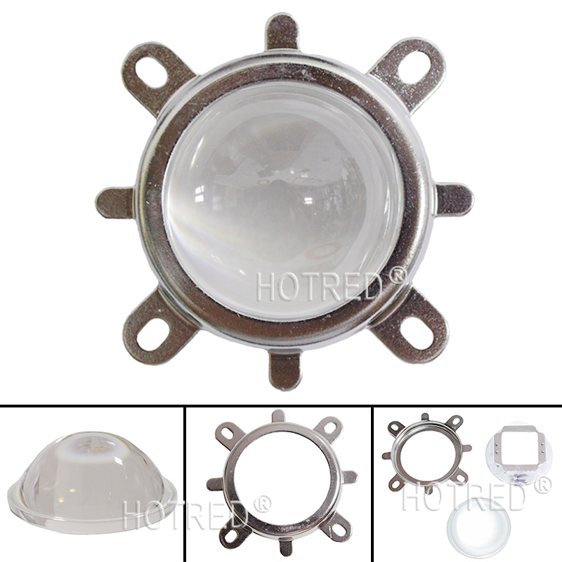 Reflector Collimator Fixed bracket 20W-100W Led Diode DIY Set of 57mm Lens