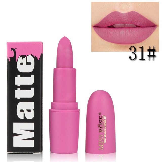 Miss Rose Brand Beauty Matte Moisturizing Lipstick Makeup Lipsticks Lipstick Waterproof Lip Gloss Matte Lipsticks Cosmetic