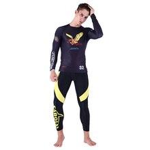 Printed Long sleeve surfing shirt rashguard surf clothing diving suits surfing tights spearfishing kitesurf men rash guard NY011