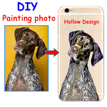 Custom Painting style Print photo hollow hard phone case cover for Samsung s8 s9plus S7e for iPhone 7 6s 8plus 5 4 X XS XR XSMAX