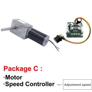 Image 4 - 高トルクワームギヤードモータ 12 v 24 v dcモータ軸の長さ 51 ミリメートルスピード 5 に 470 rpm自己ロック可変速逆