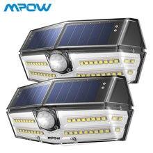 2 упак./лот Mpow 40 светодиодный солнечный свет уличный датчик движения огни 24.5% высокоэффективных Панели солнечные IP66 270 супер Широкий формат лампа