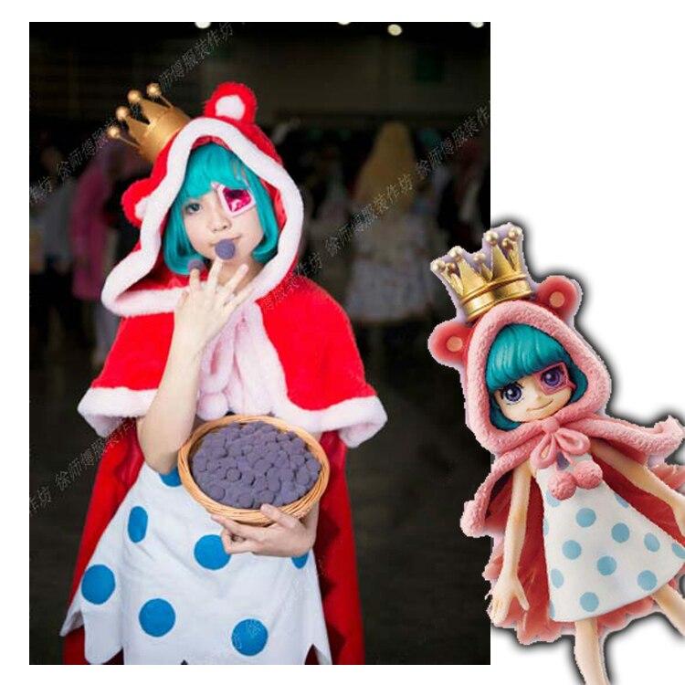 Anime One Piece Figure Sœur Suger Petit Chaperon Rouge Lolita Robe + cape À Capuche Cosplay costume Personnaliser toutes les tailles