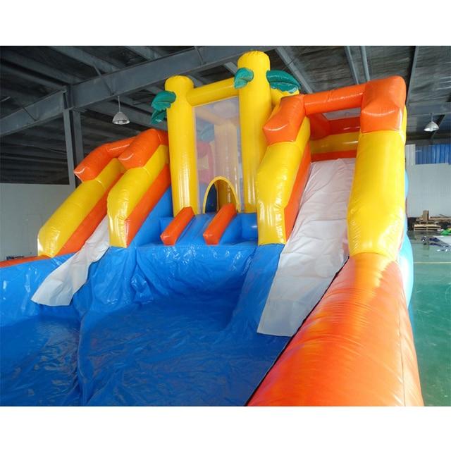 Glissière deau gonflable géante extérieure de PVC avec la piscine pour des enfants